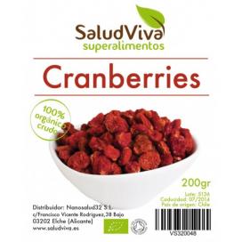 Cranberries (bayas arándano rojo) 200 grs. Salud Viva