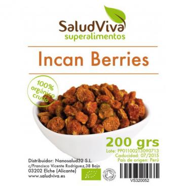 Incan Berries (bayas incas). 200 grs. Salud Viva