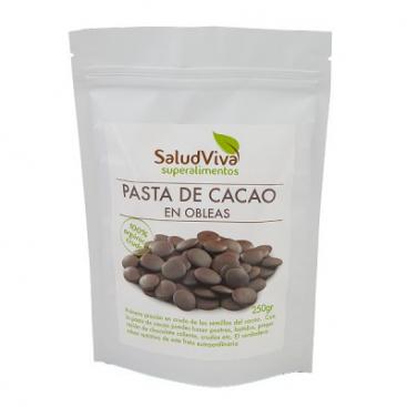 Pasta de Cacao En Obleas. 250 grs. Salud Viva