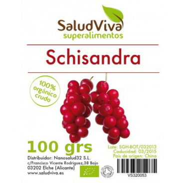Schisandra Berries (bayas). 100 grs. Salud Viva