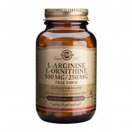 L-arginina/L-ornitina 50 cápsulas, Solgar