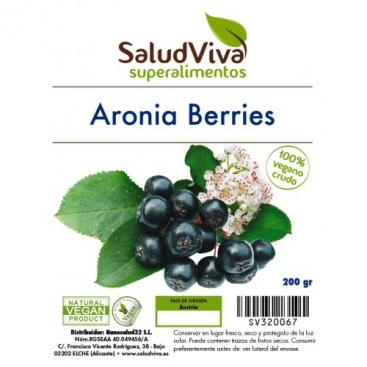 Aronia Berries en polvo 200 grs. Salud viva