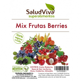 Mix frutas berries (mezcla de bayas y frutos secos). 200 grs Salud Viva