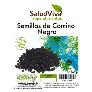 Semillas de comino negro molidas 200 grs. Salud Viva