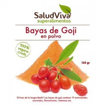 Bayas de Goji en polvo 125 grs. Salud Viva