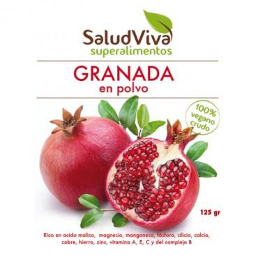 Granada en polvo 125 grs. Salud Viva