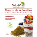 Mezcla de 6 semillas granulado 200 grs Salud Viva