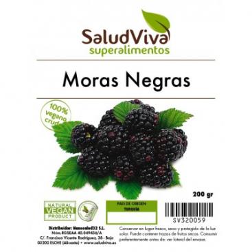 Moras Negras 140 grs Salud viva