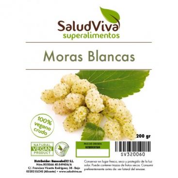 Moras Blancas (Mulberries) 140 grs Salud Viva