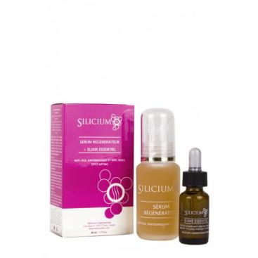 Silicium Serum regenerador + Elixir Esencial 50 y 20 ml Siliplant