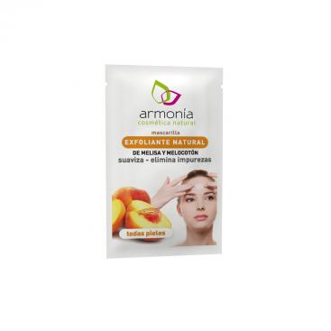 Mascarilla facial exfoliante melisa y melocotón, 11 grs. Armonía