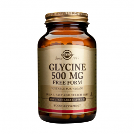 Glicina 500 mg. 100 cápsulas, Solgar