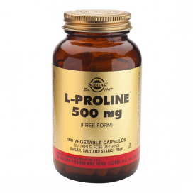 L-prolina 500mg. 100 cápsulas, Solgar