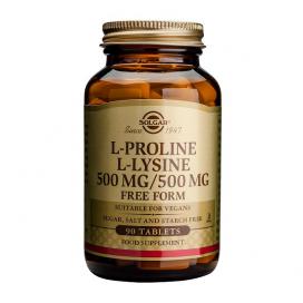 L-prolina/l-lisina 500/500mg. 90 comprimidos, Solgar