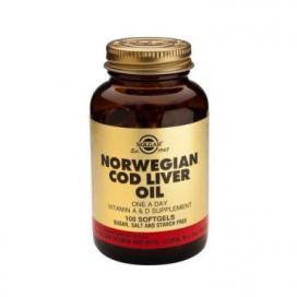 Aceite de hígado de Bacalao 407 mg. 100 cápsulas, Solgar