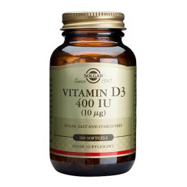 Vitamina D3 400 ui. 100 cápsulas blandas, Solgar