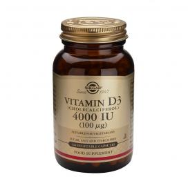 Vitamina D3 400 UI (10 μg) Cápsulas blandas Solgar