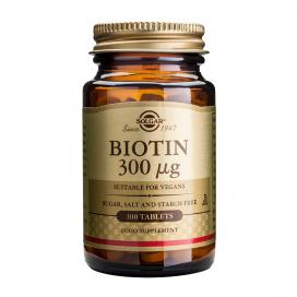 Biotina 300 mcg. 100 comprimidos, Solgar