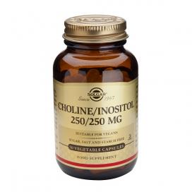 Colina/inositol 250/250 mg. Vitamina B. 50 cápsulas, Solgar