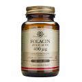 Folacín (Ácido fólico) 400 mcg. Vitamina B9. 250 comprimidos, Solgar