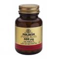 Folacín (Ácido fólico) 400 mcg. Vitamina B9. 100 comprimidos, Solgar