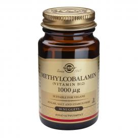 Vitamina b12 1000 mgc. Metilcobalamina. 30 comprimidos masticables, Solgar