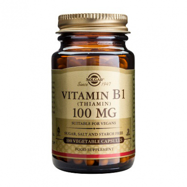 Vitamina b1 (Tiamina) 100 mg. 100 cápsulas, Solgar