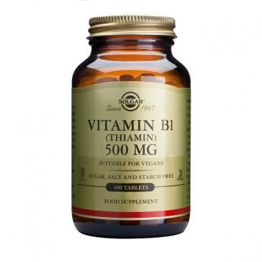 Vitamina b1 (Tiamina) 500 mg. 100 cápsulas, Solgar