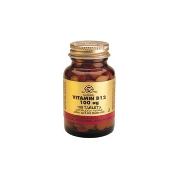 Vitamina b12 (Cobalamina) 100 mcg. 100 comprimidos, Solgar
