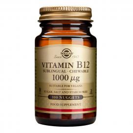 Vitamina b12 (Cobalmina) 1000 mcg. 100 comprimidos masticables, Solgar