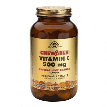Vitamina C 500 masticable sabor naranja. 90 comprimidos, Solgar