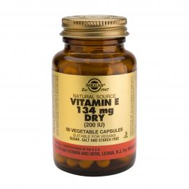 "Vitamina E ""seca"" 200 ui 134 mg. 50 cápsulas vegetales, Solgar"