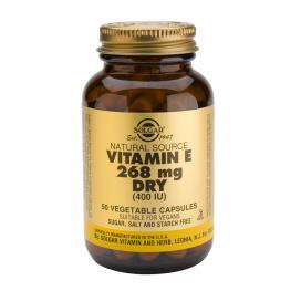"Vitamina E ""seca"" 400 ui 268 mg. 50 cápsulas vegetales, Solgar"