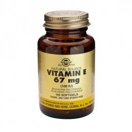 Vitamina E 100 ui 67 mg tecoferoles. 100 cápsulas, Solgar