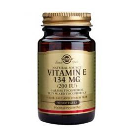 Vitamina E 200 ui 134 mg. 50 cápsulas de gelatina vegetales, Solgar