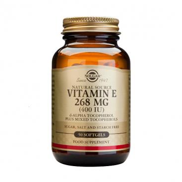 Vitamina E 400 ui (268 mg). 250 cápsulas, Solgar