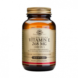 Vitamina E 400 ui 268 mg. 100 cápsulas gelatina vegetales, Solgar