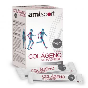 Colágeno con Magnesio + Vitamina C en sticks AMLSPORT