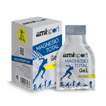 Magnesio total gel 10 ml. sabor limón AMLSPORT