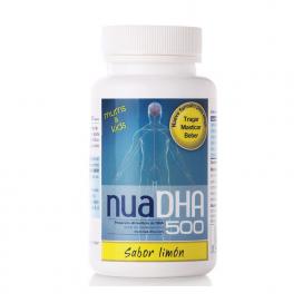 Nua DHA 500 mg. - Omega 3 masticable sabor limón - 30 cápsulas