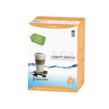 Light nova batido capuccino 6 sobres Novadiet