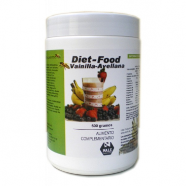 Diet food batido sabor vainilla y avellana 500 grs. Nale
