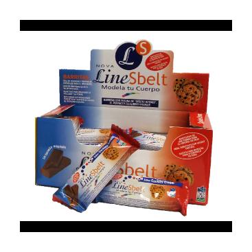 Barrita Line sbelt sabor cookies 45 grs. Novadiet