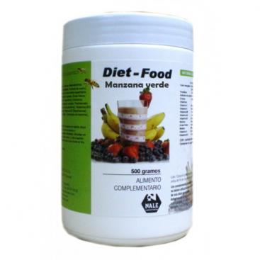 Diet food batido sabor manzana verde 500 grs. Nale