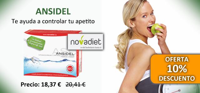 Oferta Ansidel de Novadiet para control del apetito