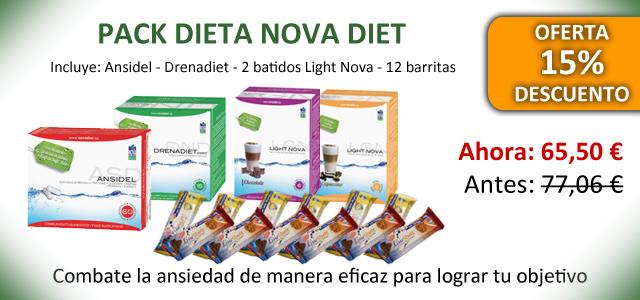 Oferta pack dieta de Novadiet con Ansidel